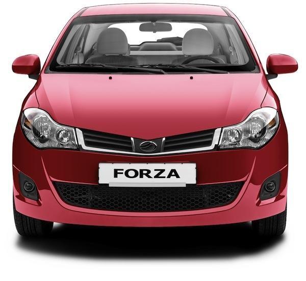 Красный ЗАЗ Forza вид спереди