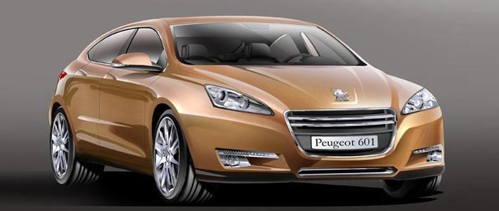 Концепт Peugeot 601 вид спереди