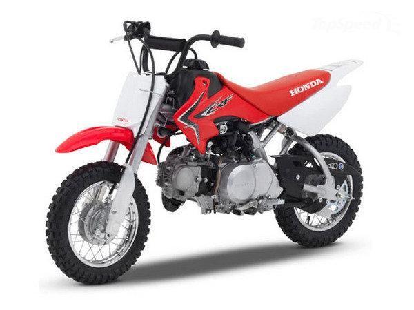 Красный Honda CRF50F, мотоцикл
