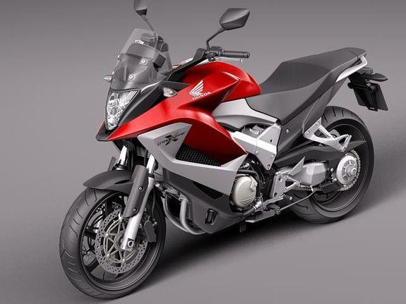 Красный Honda VFR800X Crossrunner, мотоцикл