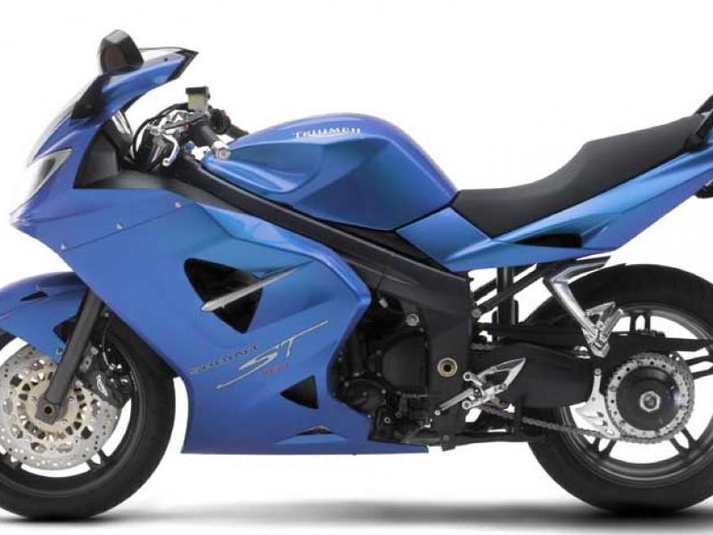 Синий Honda VFR1200FD вид сбоку
