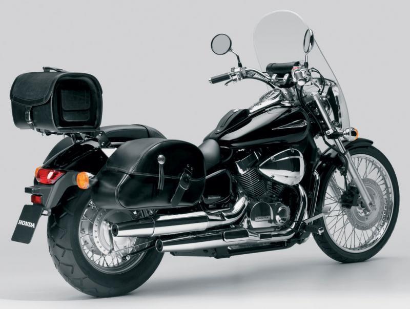 Черный мотоцикл Honda VFR800X Crossrunner