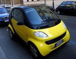 Желтый Smart Smart: вид спереди