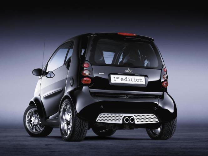 Черный Smart Smart: вид сзади