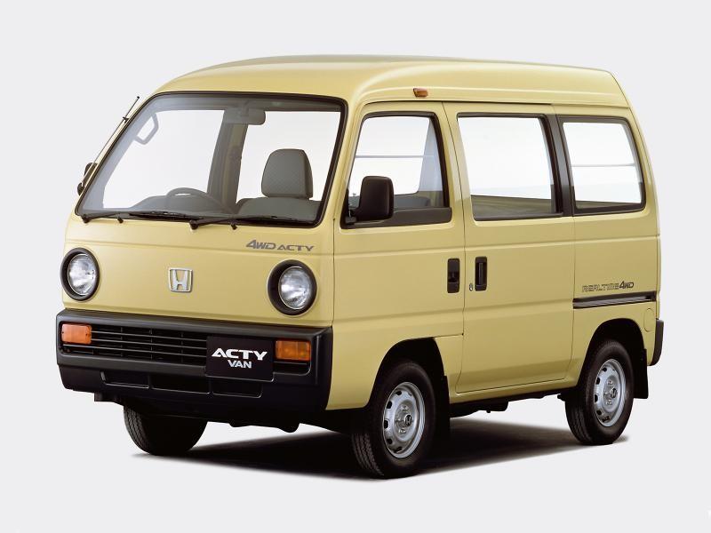 Желтая Honda Acty