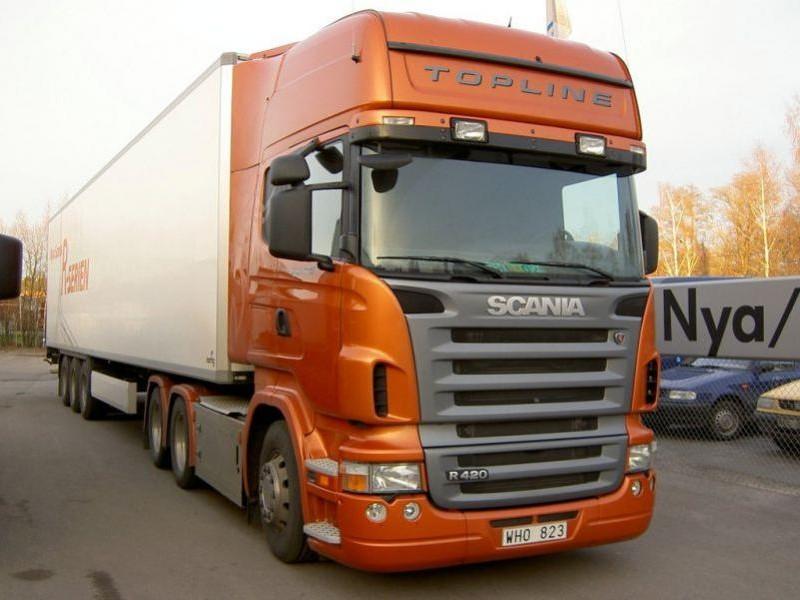 Грузовик Scania R420 вид спереди