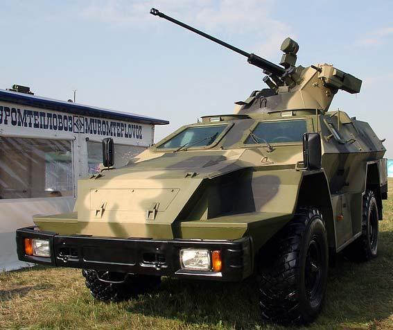 Военный КАМАЗ БМП-97 вид спереди
