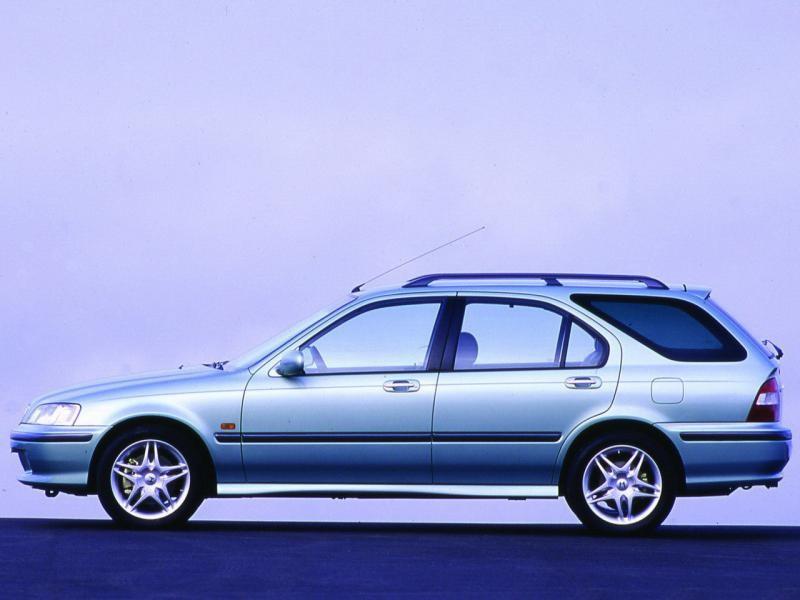 Серебристый Honda Civic Aerodeck вид сбоку