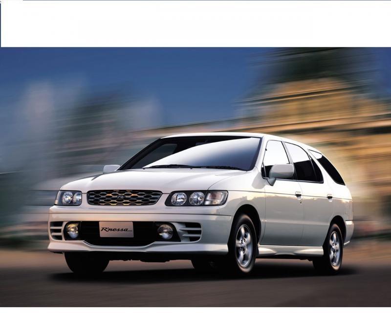 Белый универсал Nissan R`nessa вид спереди