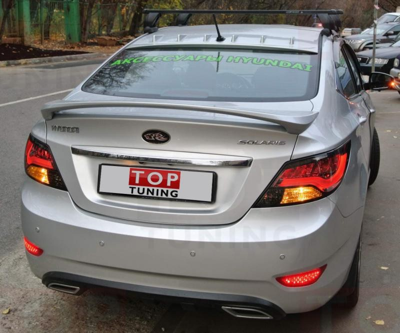 Тюнинг седана Hyundai Solaris вид сзади