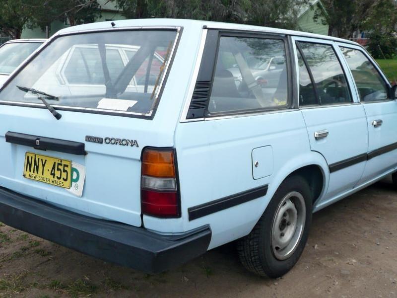 Toyota Corona Wagon, вид сзади