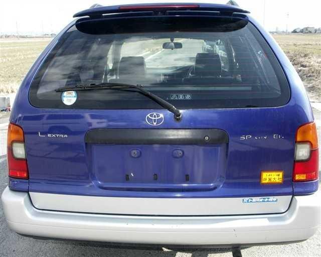 Синий Toyota Sprinter Wagon вид сзади