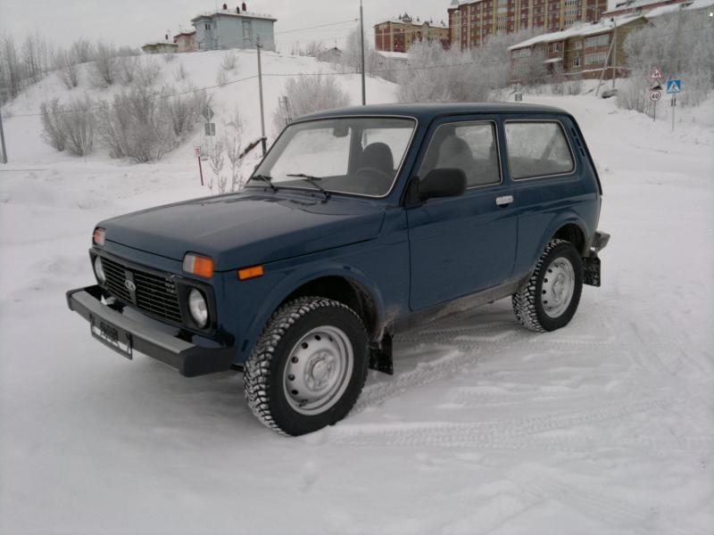 Синий ВАЗ 2121 4х4 Нива