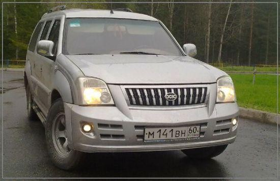 Серебристый Xin Kai SUV X3 вид спереди