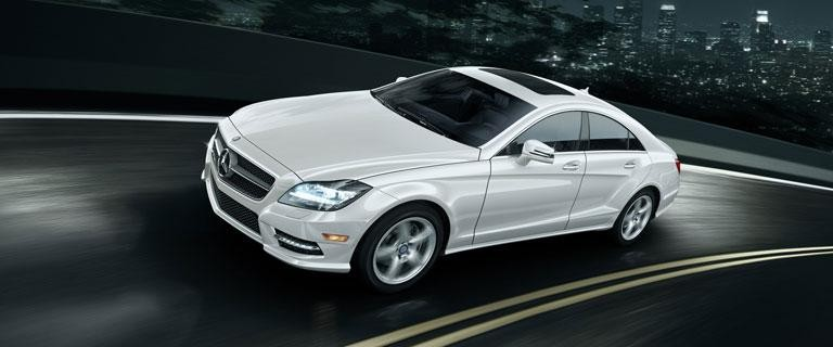 Белый Mercedes CLS-Class Coupe 2014
