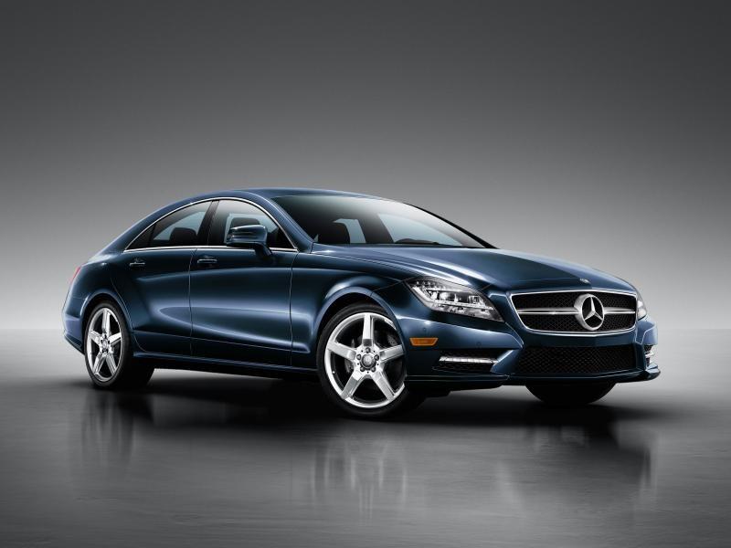 Синий Mercedes CLS-Class Coupe 2014