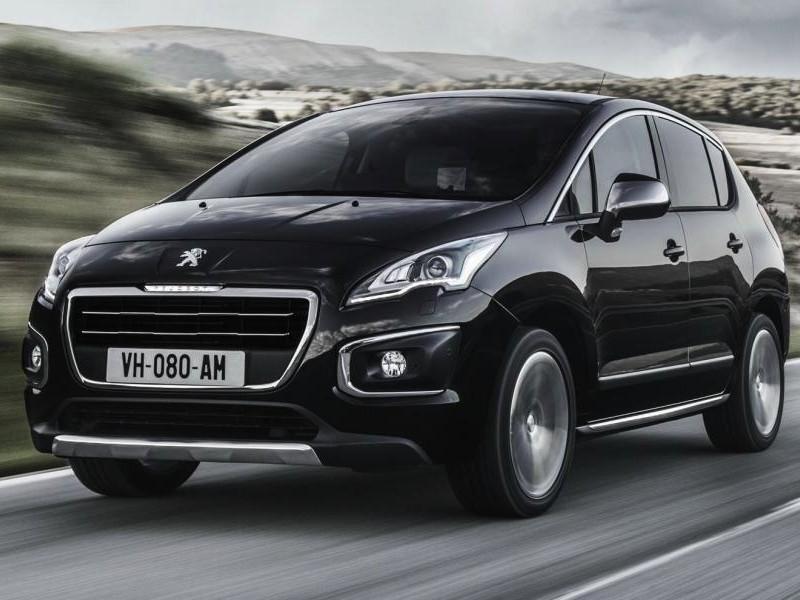 Черный Peugeot 3008 2014 кроссовер