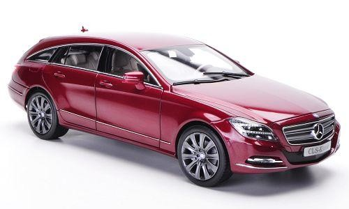 Красный Mercedes CLS-Class Shooting Brake 2014