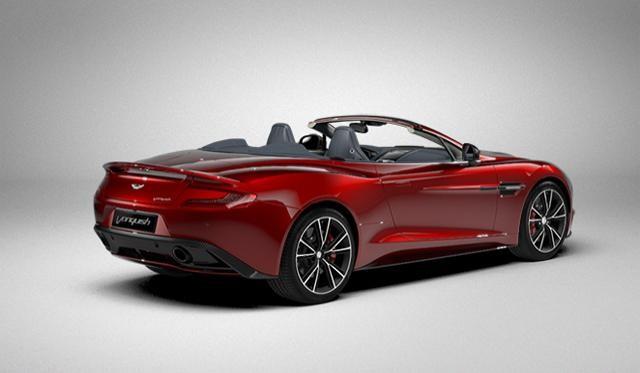 Красный Aston Martin Vanquish Volante 2014