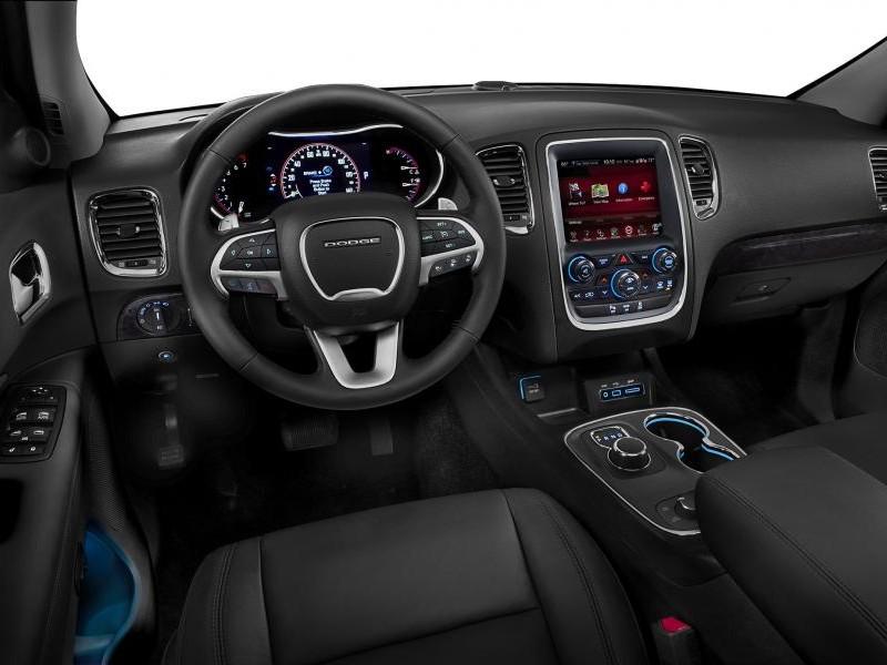 Черный салон, консоль, руль Dodge Durango 2014