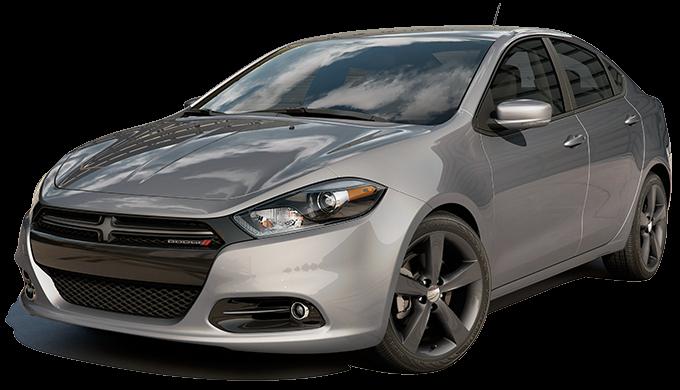 Серебристый хэтчбек Dodge Dart 2014 вид спереди