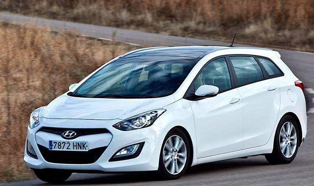 Белый универсал Hyundai I302014