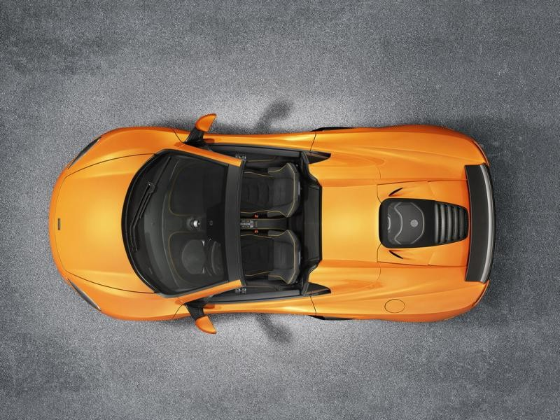McLaren 650S Spider 2014 вид сверху