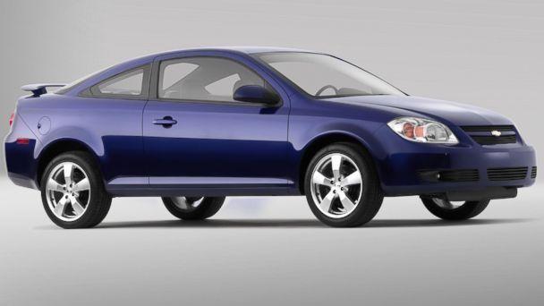 Синий купе Pontiac G5 вид сбоку