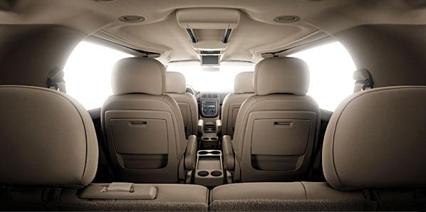 Вид салона Buick Terraza