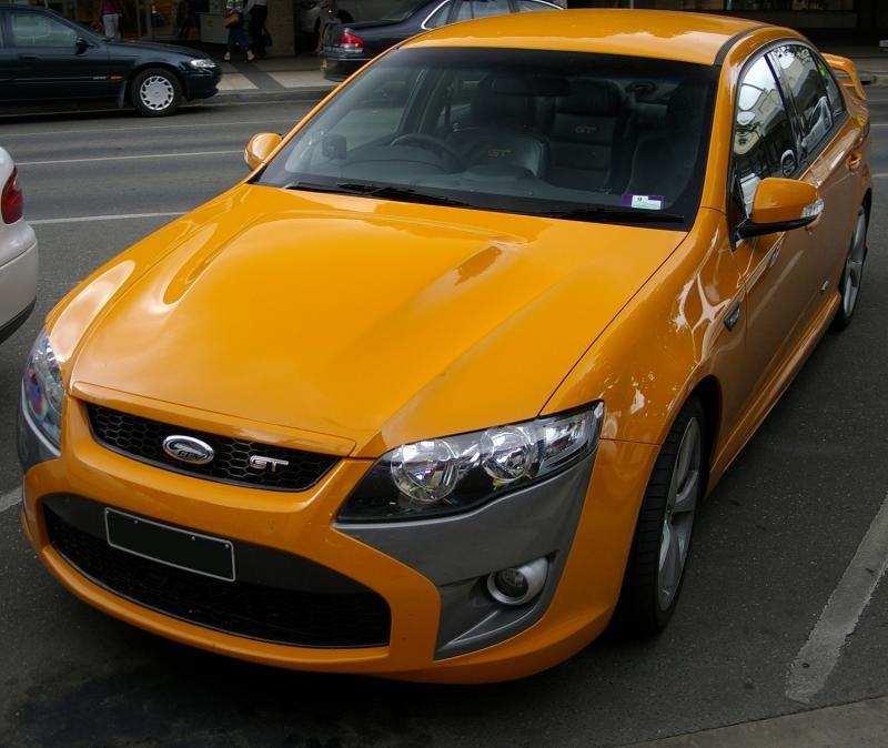 Оранжевый FPV GT вид спереди
