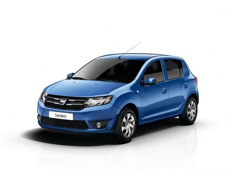 Синий хэтчбек Dacia Logan