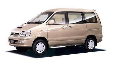 Бежевый Daihatsu Delta Wagon вид сбоку