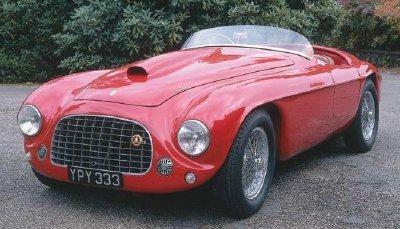 Красный Ferrari 166 MM