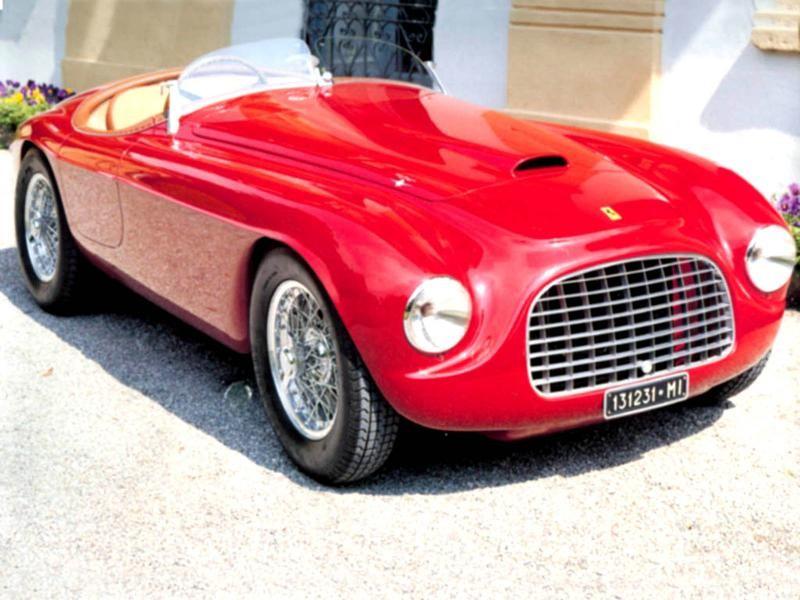 Красный Ferrari 166MM