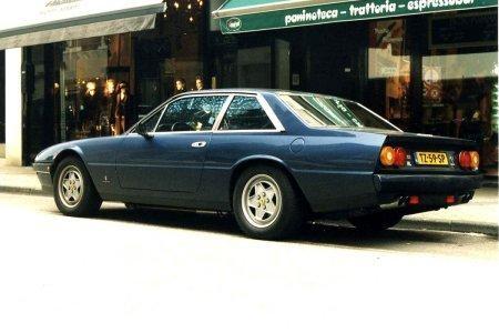 Ferrari 412 синий купе