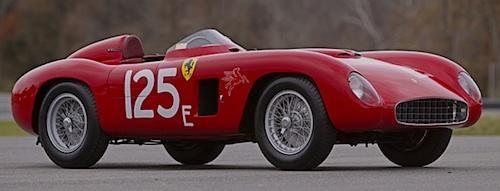 Красный Ferrari 500 Testarossa вид сбоку