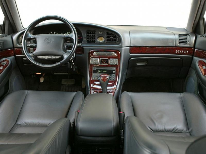 Черный салон, руль, консоль Hyundai Dynasty
