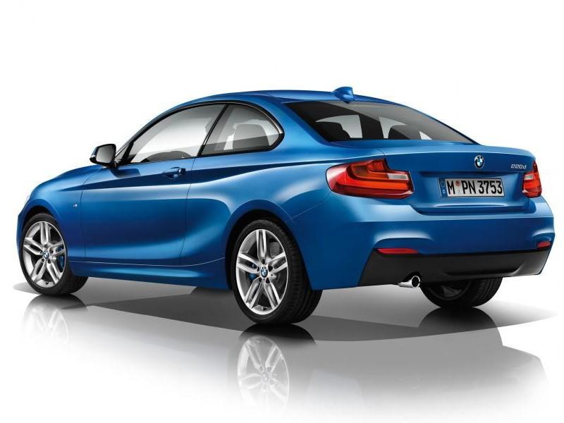 Синий купе BMW 2 Series