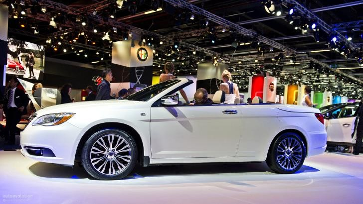 Белый кабриолет Lancia Flavia, вид сбоку