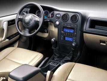 Бежевый салон, руль, консоль Landwind X6