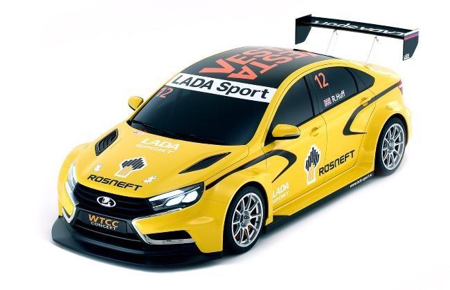 Желтый концепт Lada Vesta WTCC