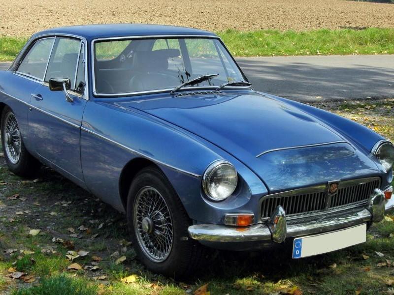 Синий купе MG C GT