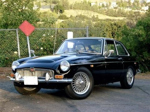 Черный купе MG C GT