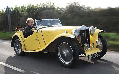 Желтый MG TC