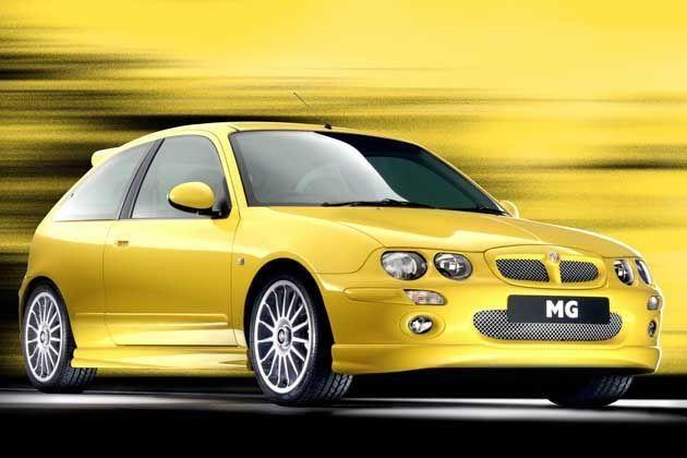 Желтый хэтчбек MG X30