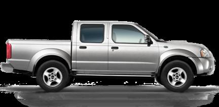 Серебристый Nissan Pickup вид сбоку