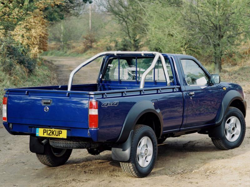 Синий Nissan Pickup вид сзади