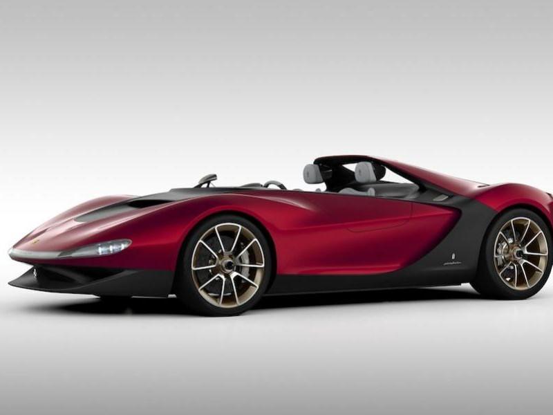 Концепт Ferrari Sergio вид сбоку
