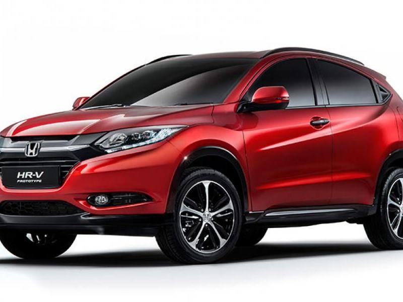 Красный кроссовер Honda HR-V