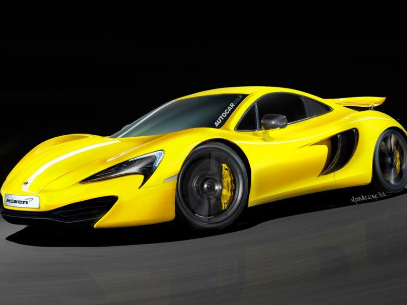 Желтый McLaren Sport Series 2015
